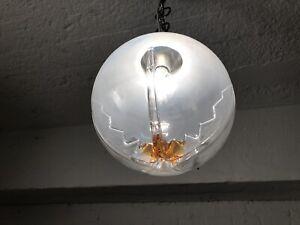 Details zu Mazzega Murano Glas Design Deckenlampe 70er Jahre Lampe Stil  Leuchte