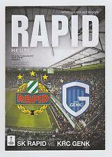 Orig.PRG     Europa League   2016/17   RAPID WIEN - KRC GENK  !!  SELTEN
