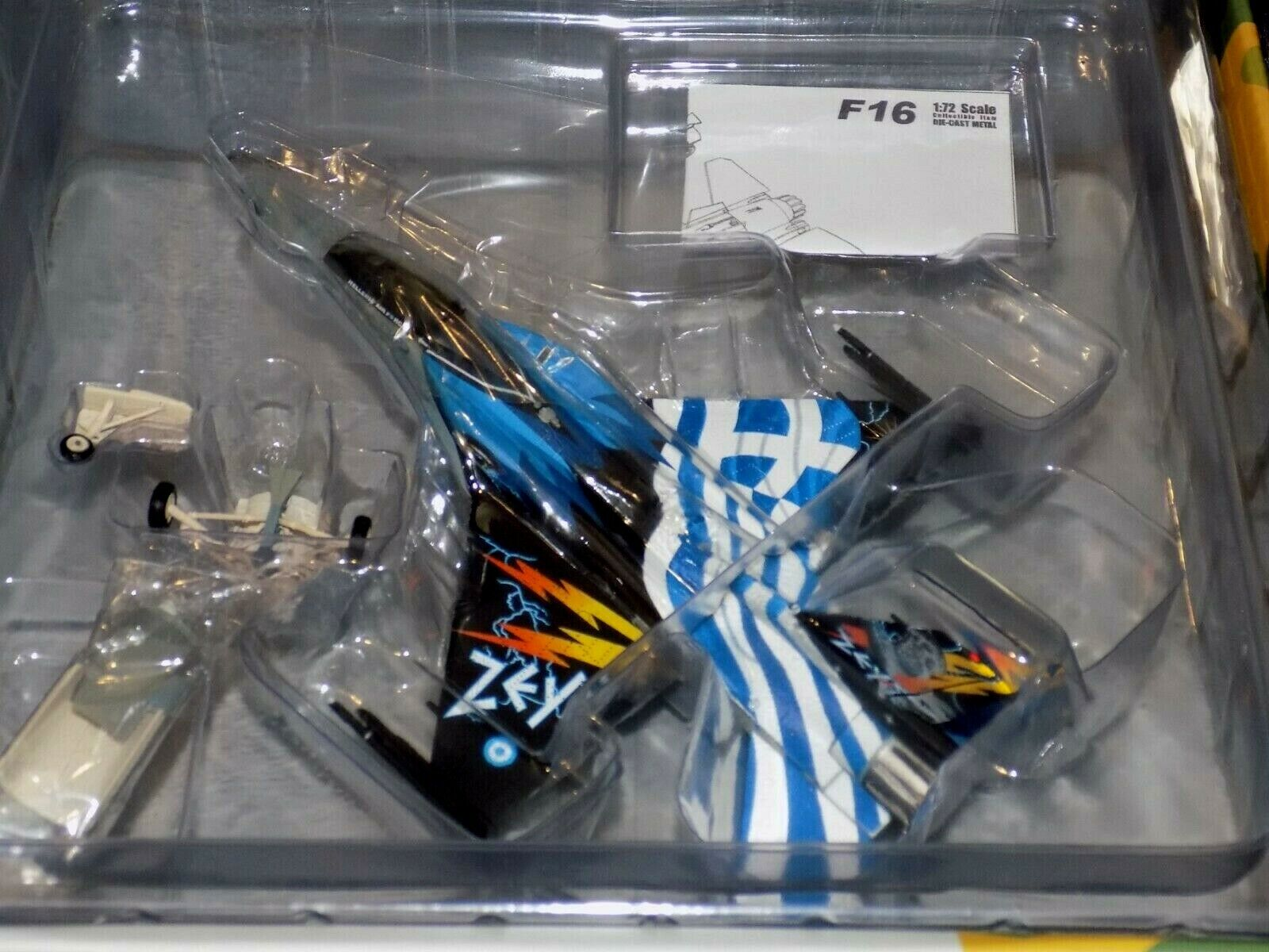 HELLENIC AIR FORCE F-16C  ZEUS DEMO TEAM 340 MIRA HERPA WINGS 580380 1 72