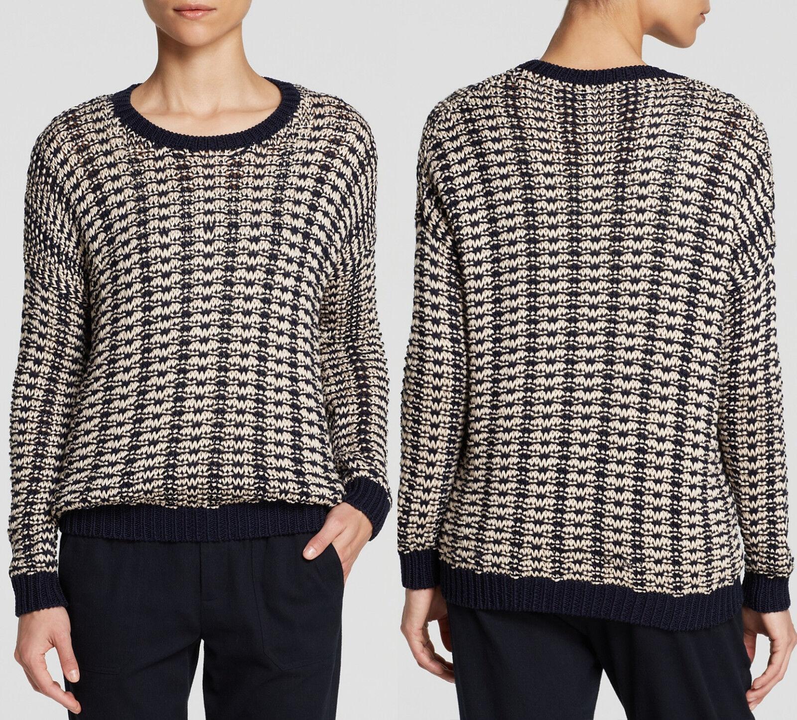 NWT  Vince Women's Vince Mercerized Cotton Textured Knit Sweater