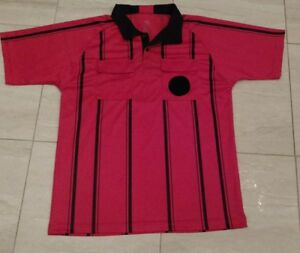 b93e1b76197 Official Sports Soccer Referee Jersey Shirt Red   Black Mens L Large ...