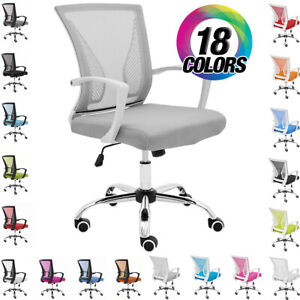 ADJUSTABLE HEIGHT MID-BACK MESH TASK CHAIR ZUNA OFFICE DESK CHAIR NEW