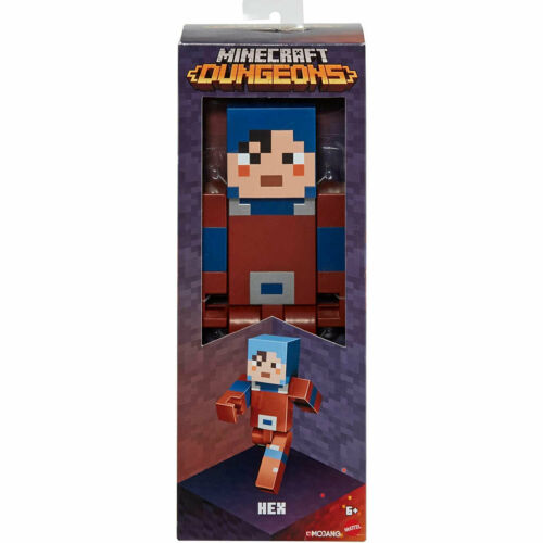 Minecraft Dungeons Large Scale 8.5-Inch Hex Action Figure *BRAND NEW*