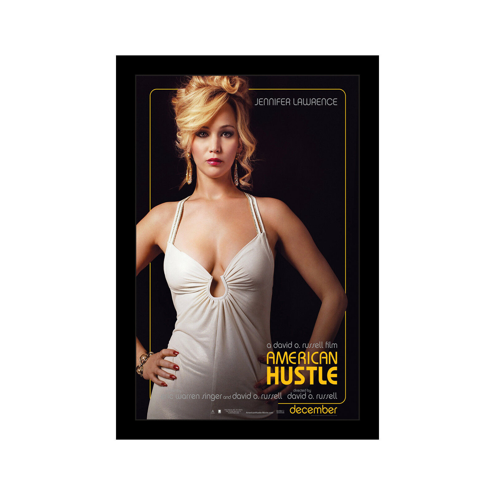 AMERICAN HUSTLE - 11x17 Framed Movie Poster by Wallspace