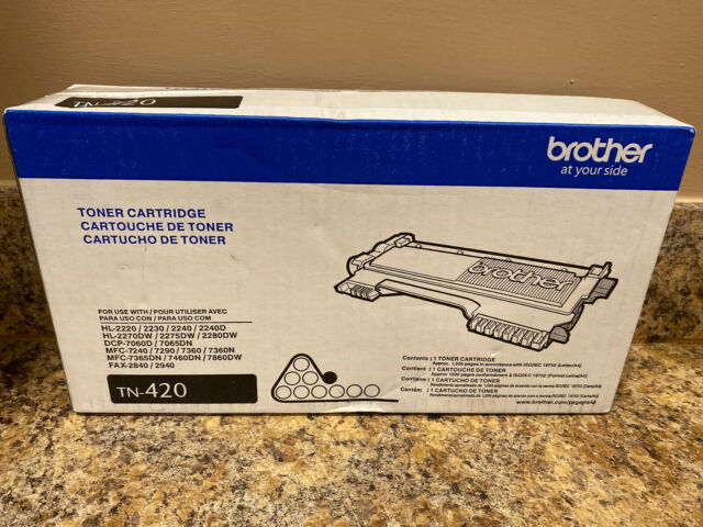 BROTHER TN-420 TN420 BLACK TONER CARTRIDGE NEW IN SEALED FACTORY BOX FREE SHIP