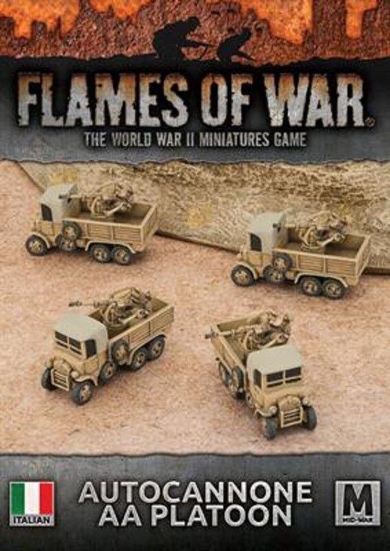 ITALIAN AUTOCANNONE PLATOON - IBX20 - FLAMES OF WAR