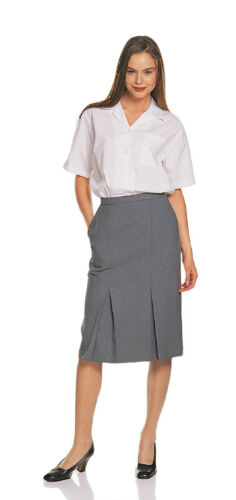 Ladies Full Waistband Bowls wear Bowling Grey Skirts Sizes 10 to 24