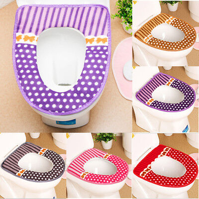 Soft Washable Toilet Seat Cover Pad Lid Top Cover Closestool Bathroom Warmer