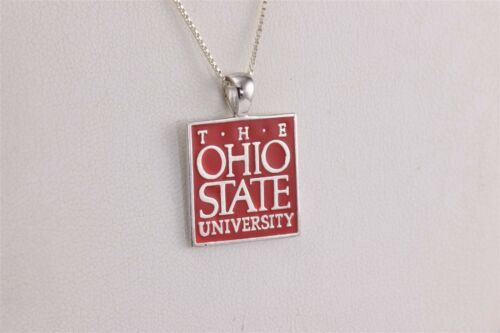 925 Sterling Silver Yellow Gold-Plated Official Ohio State University Small Pendant Charm 15mm x 13mm