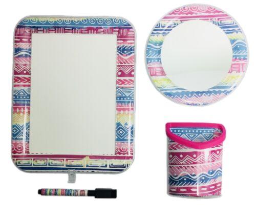 Locker Accessory Set 4 piece Magnetic Lounge Mirror Dry Erase Board Pen Holder