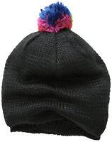 Muk Luks Women's Guatemalan Colorful Pom Slouchy Beanie Hat Winter Cap