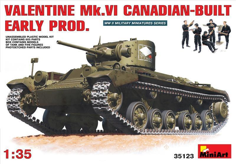 Minikonst 1  35 Valentine Mk. VI Canadian Built Early Prod.