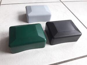 kappen f r rechteckpfosten abdeckkappen kunststoff zaunpfosten kappen ebay. Black Bedroom Furniture Sets. Home Design Ideas
