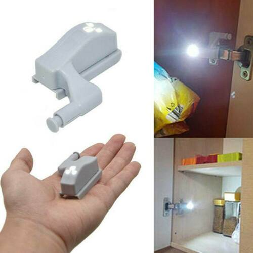 Universal Cabinet Hinge LED Sensor Light Wardrobe Cupboard Kitchen Door Closet