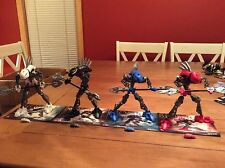 LEGO Bionicle Rahkshi Figure Lot Of (4) Sets 8588 8590 8591 8592 W/ Books