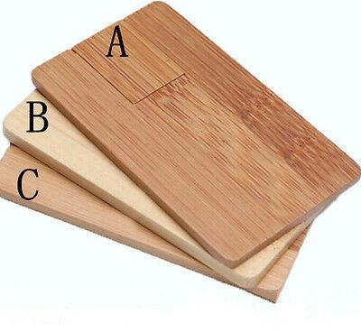 Fashion ODM DIY LOGO Natural Wooden Card model usb 2.0 memory stick pen drive