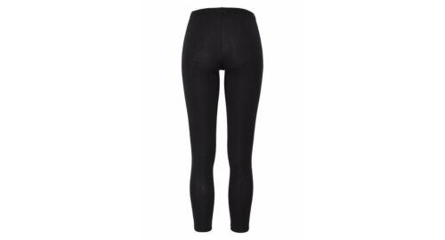 Chillytime Damen Leggings lang Glanzstreifen Hose Baumwolle schwarz 459617