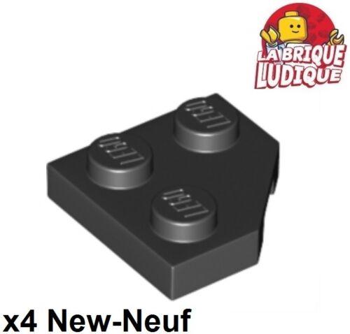 Lego 4x Aile Wedge plate 2x2 cut corner coin angle noir//black 26601 NEUF