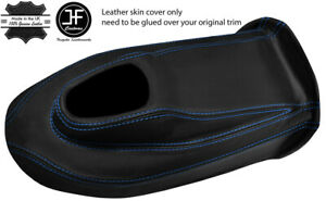 BLUE-STITCH-LEATHER-GEAR-BOX-COVER-PANEL-LEATHER-COVER-FITS-JAGUAR-E-TYPE-S2