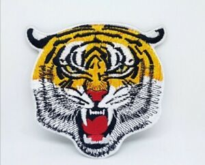 Tiger Head animal badge Embroidered Iron Sew on Patch j677