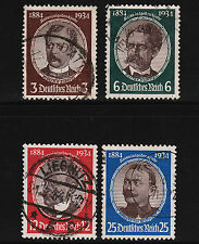 1934 Germany Lost Colonies Set Sc#432-435 Used Sound 13271