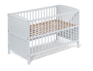 KOKO- Babybett | Juniorbett | Kinderbett | umbaubar | weiss | 140x70 ...