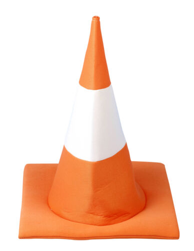 ROAD HIGHWAY TRAFFIC CONE HAT FUNNY STAG NIGHT FANCY DRESS COSTUME OUTFIT..