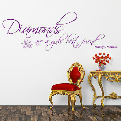 Diamonds Are A Girls Best Friend Wall Sticker Wall Art Vinyl Decal Transfer