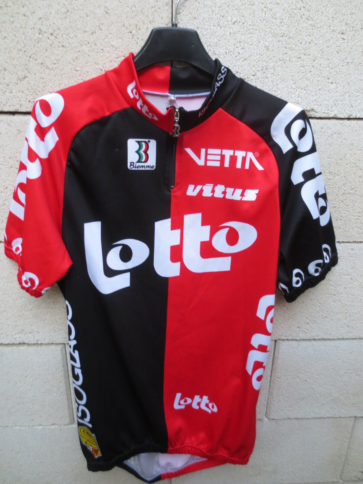 VINTAGE Maillot cycliste LOTTO ISOGLASS Tour France 1995 jersey shirt vareuse XL