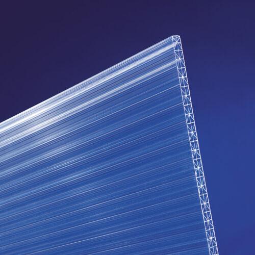 Doppelstegplatten Stegplatten 16mm Lichtplatten Polycarbonat Cross klar farblos