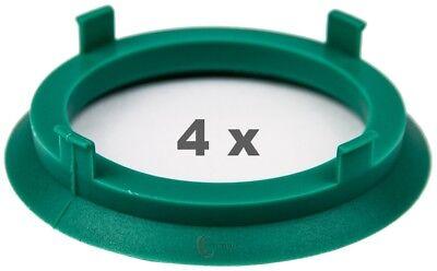 4 Pezzi Anelli Centraggio 70.1 Mm Su 56.6 Mm Mint / Teal