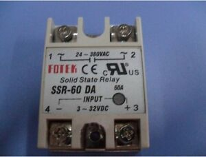 New 1Pc Fotek SSR-60 Da 3-32VDC Solid State Relay  free shipping