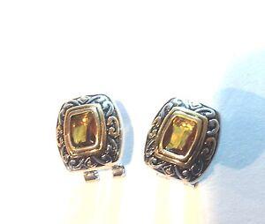 Designer-Inspired-Golden-Topaz-Gemstone-Earrings