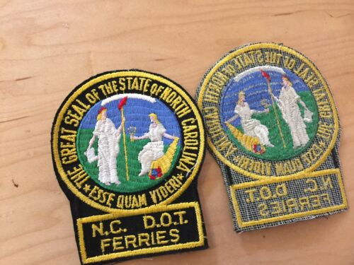 north carolina, dept.of transportation,ferries, vintage patch,nos, 1970's