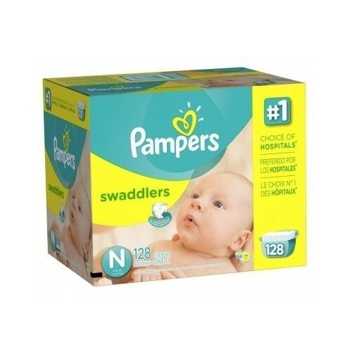 Swaddlers Diapers Size Newborn Giant Pack 128 Count, Baby, Nursery, Diaper Bag