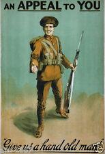 WW1 World War 1 propaganda Recruitment Ireland poster photo 100 years 1914-2014