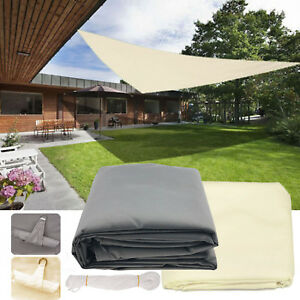 Large Sun Shade Sail Canopy Sun Screen Garden Patio Awning Uv Block