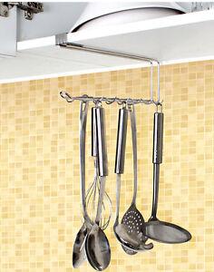 Image Is Loading 12 Hooks Kitchen Rack Utensil Hanger Tool Hooks