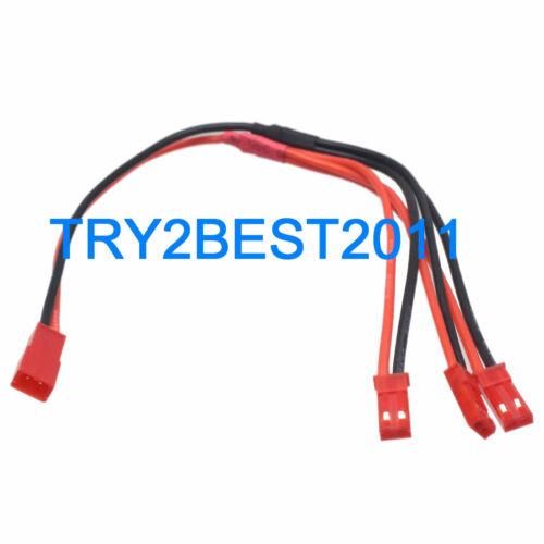 JST Câble parallèle 1 femelle à 3 Mâle Chargeur Câble sous Plomb Pour RC Batterie
