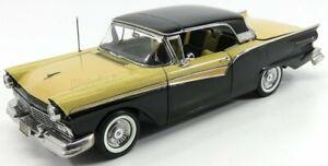 SUN-STAR 1/18 FORD USA   FAIRLANE 500 SKYLINER CABRIOLET 1957   BLACK INCA GOLD