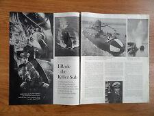 1960 Article Ad I Rode the Killer Sub Skipjack The Navy's New Atomic Submarine