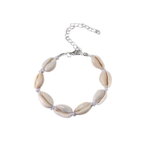 Boho femmes été plage bijoux cowrie coquille de mer bracelet décor cadeau