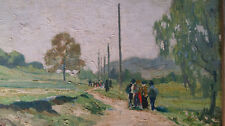 ALFRED SOUCI (*1879 München Schwabing) Listed painter Spaziergang in d. Isarauen