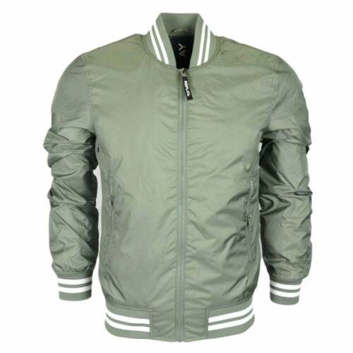 REPLAY in poliestere Bomber stile Giacca Cachi