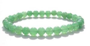 8mm-gruene-Jade-Armband-elastisch-Heilung-Manschette-Unisex-Yoga-Sutra-Handgelenk-Moench-Mala
