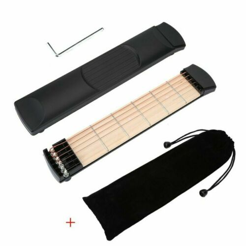VGEBY Pocket Guitar 6 Fret Left Hand Mini Practice Strings Guitar Chord Trainer