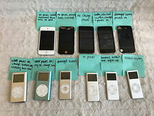 Huge Lot of iPod Touch Nano Mini 32gb 16gb 8gb A1367 A1318 A1051 A1199 For Parts