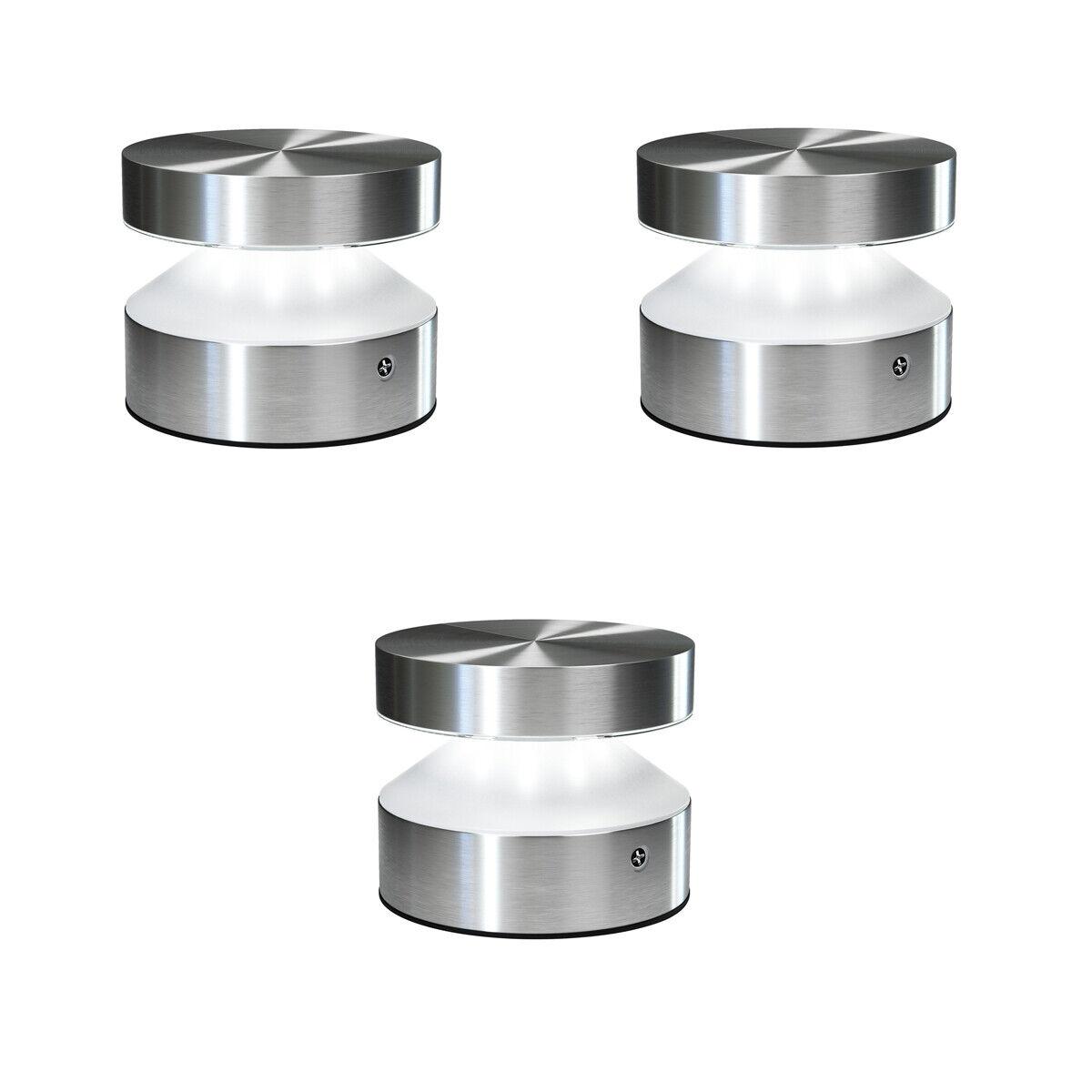 OSRAM ENDURA STYLE Cylinder LED-Leuchte Ø 10,2 cm Edelstahl 6W=33W warm weiß 3er