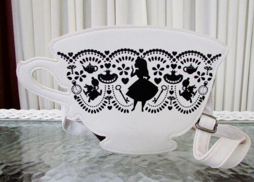 Disney Loungefly Alice in Wonderland Silhouette Teacup Crossbody Bag Purse NWT
