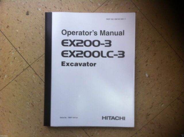 hitachi ex200 3 ex200lc 3 excavator operation operator maintenance rh ebay com Hitachi EX200LC Log Loader Hitachi Carrying Bag